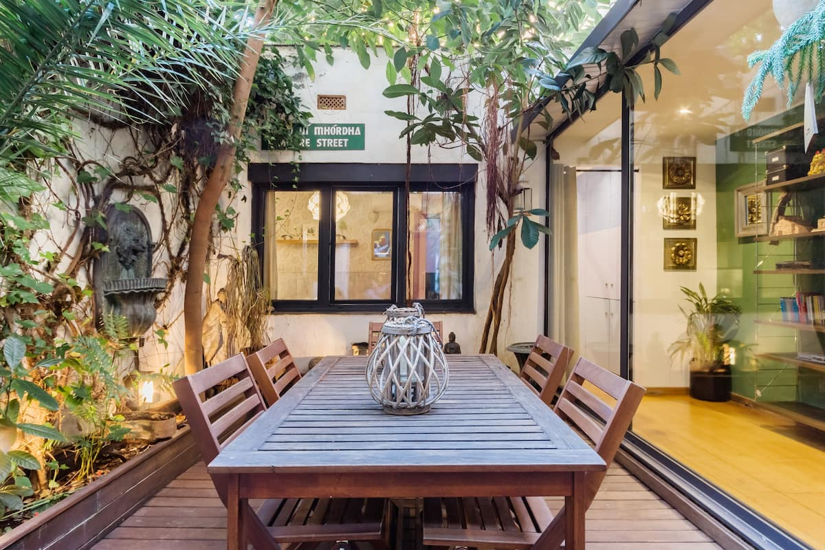 Exquisite Large Unique Home in Gràcia with Lush Patios