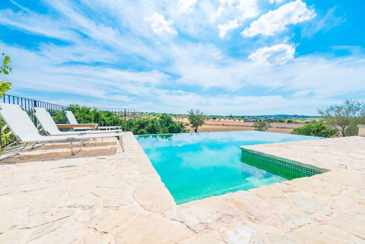 Son Jordi - villa with pool and countryside views - Llubí - Ev