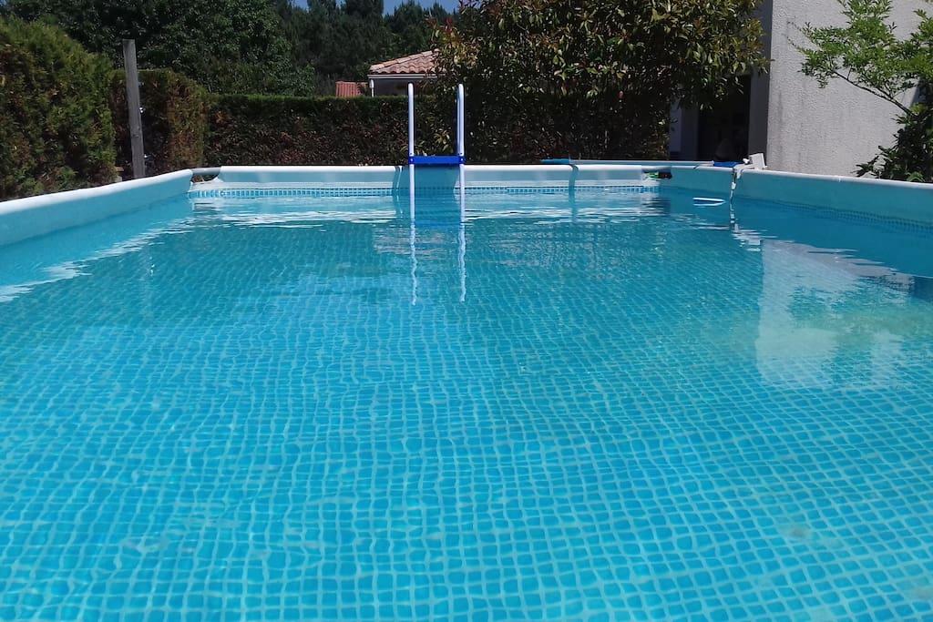 piscine hors sol de 7.50 m par 3.50 m