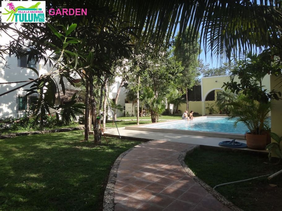 From private garden to swimming pool