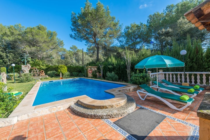 ELS PINS - Villa with private pool in Crestatx . Free WiFi