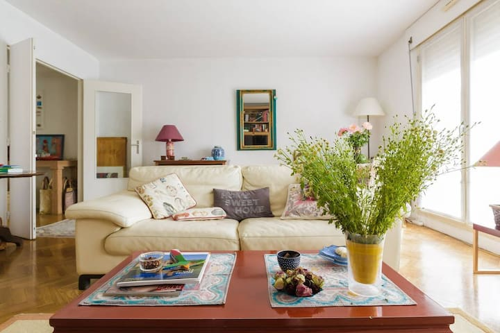 Nice, bright room in a big apartment