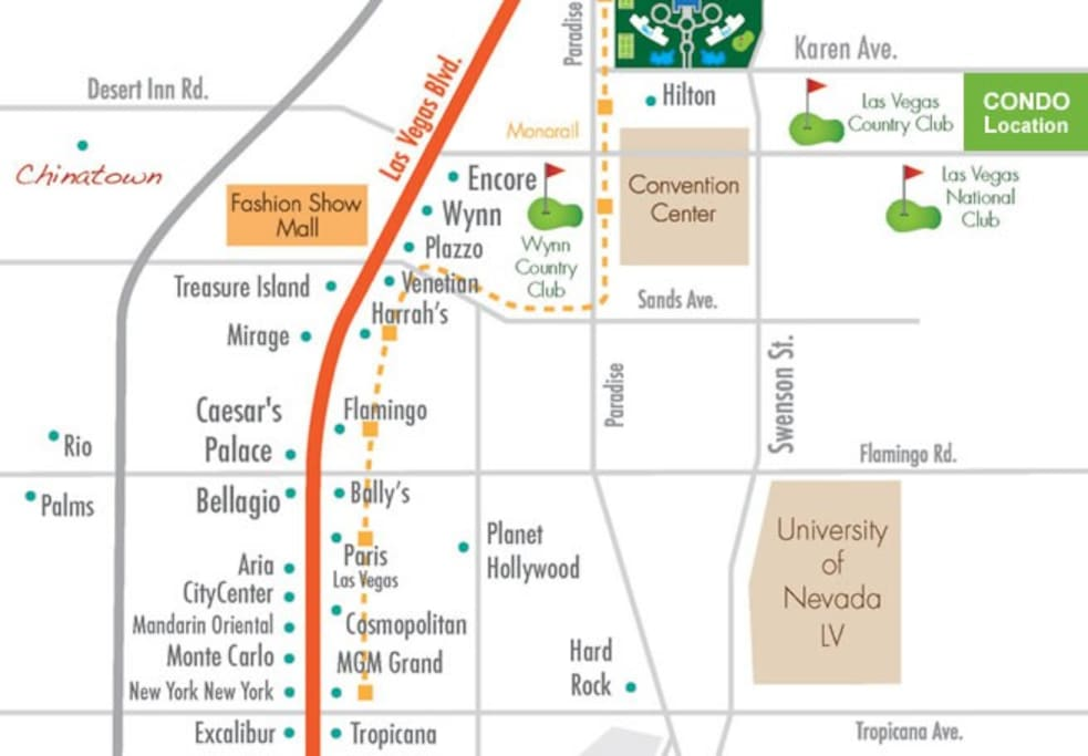 It's my condo location map for guests