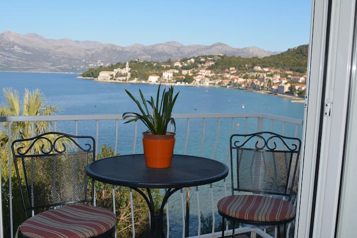 Economy double room with sea view and balcony - Dubrovnik - Bed & Breakfast