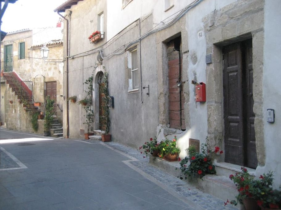 Street in front of BnB Fiore.
