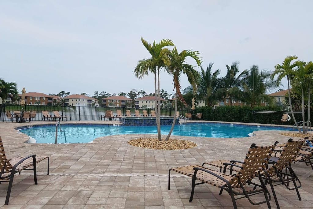 Picture yourself relaxing and enjoying swimming and sunbathing at the resort style community pool.