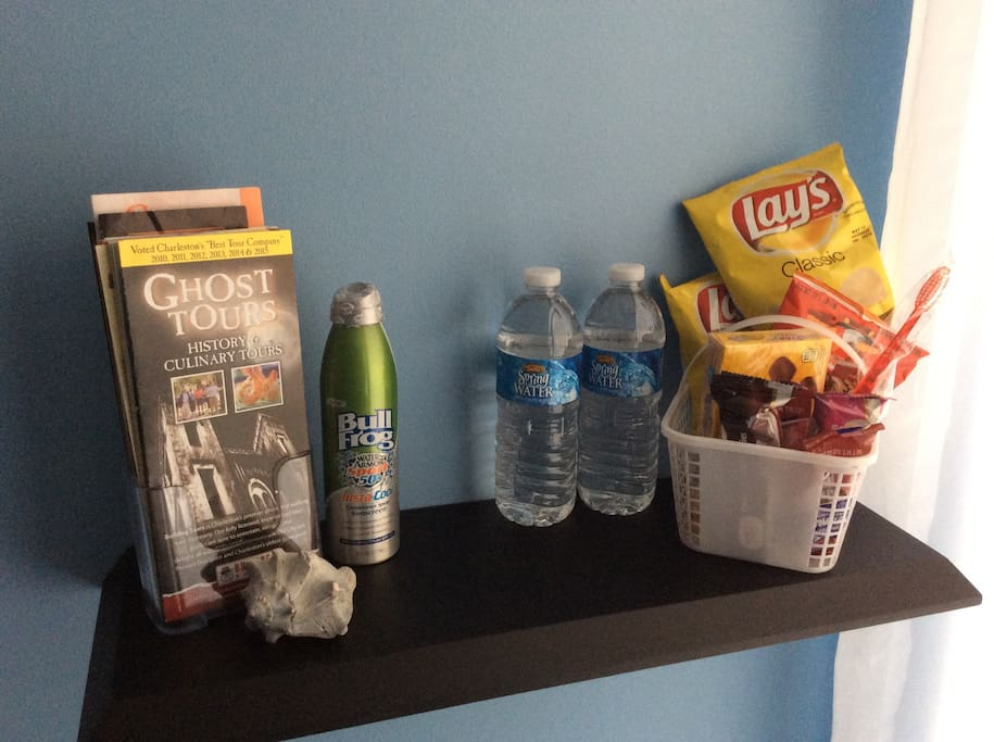 Snacks, water and local tourists information