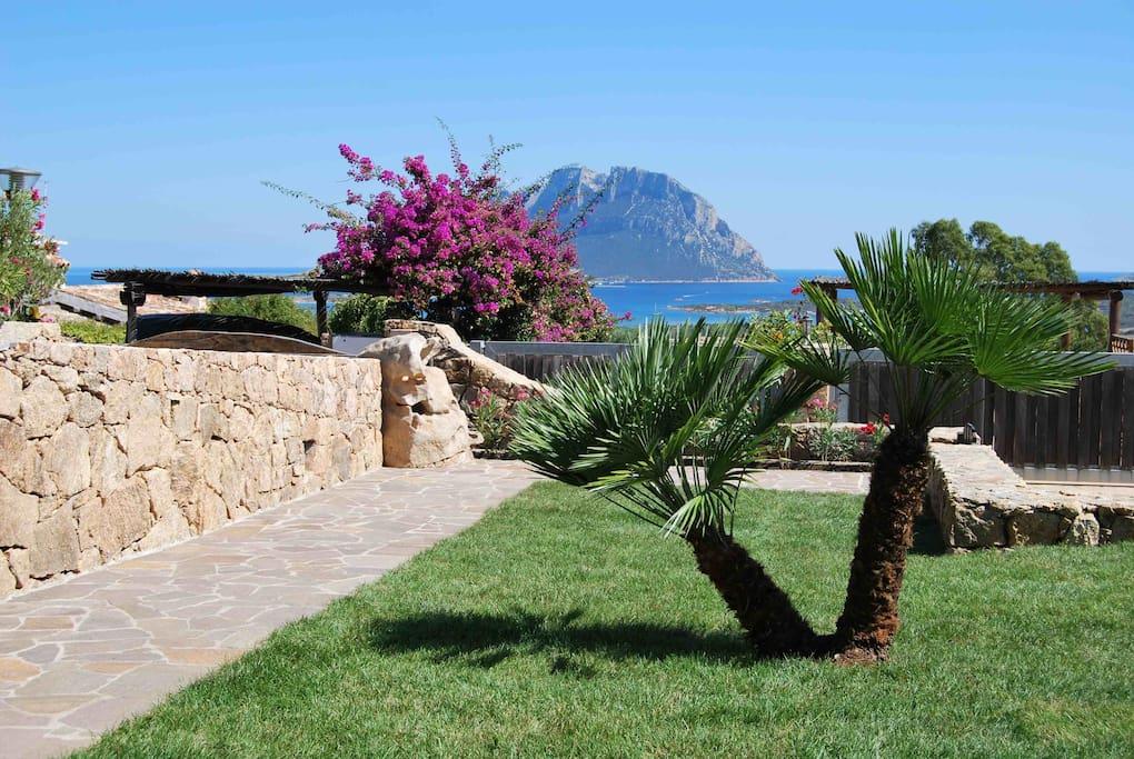 La splendida vista dal giardino!!!!