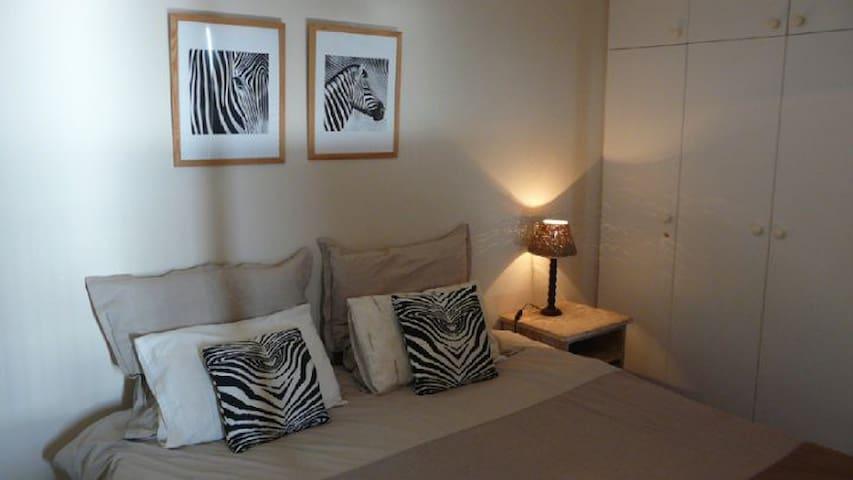 Main double bedroom with beautiful sea views.