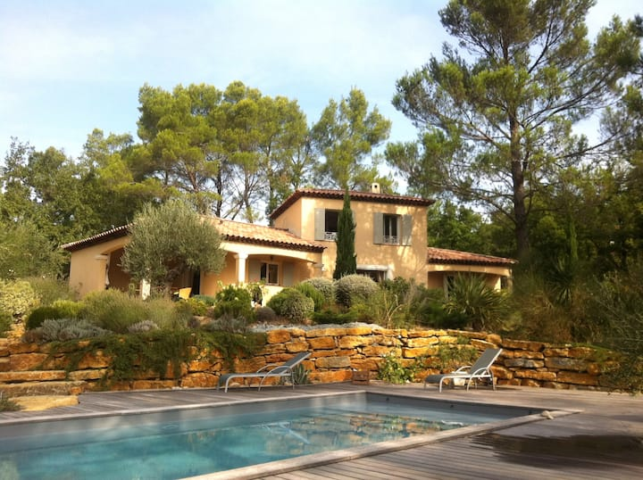 In the pine forest, villa and pool