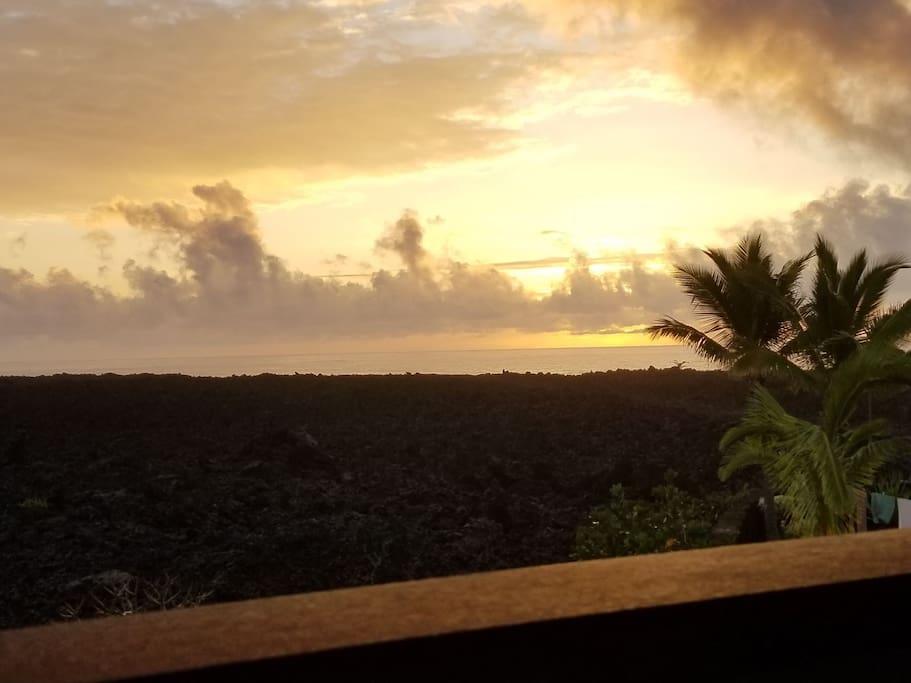 Beautiful sunrises from  the lanai