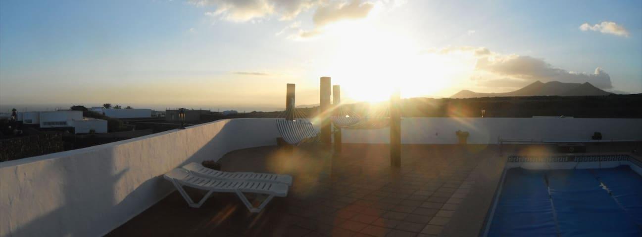 atardecer, desde la terraza
