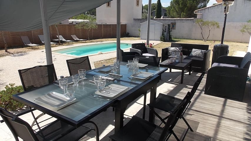 House - Swimming Pool Provence/Pont du Gard - Castillon-du-Gard - Ev