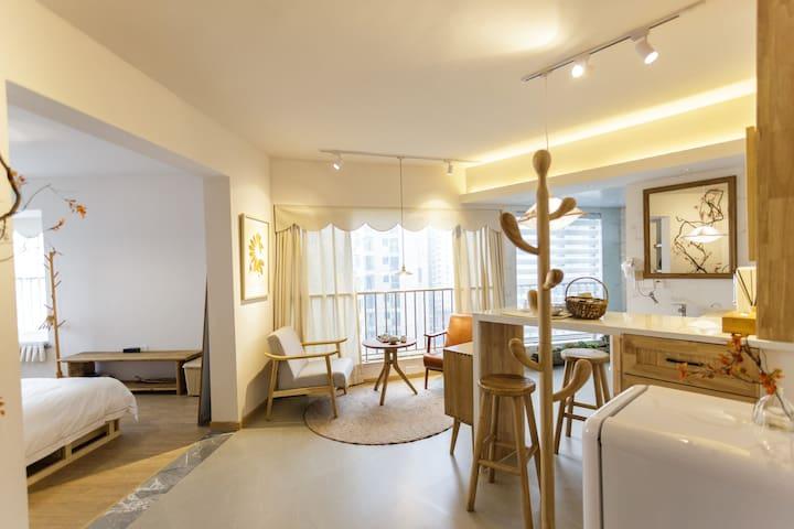 己度-【归林】一室一厅精致装修江景房 /交通便利临近地铁口红谷滩万达/步行可达世贸广场