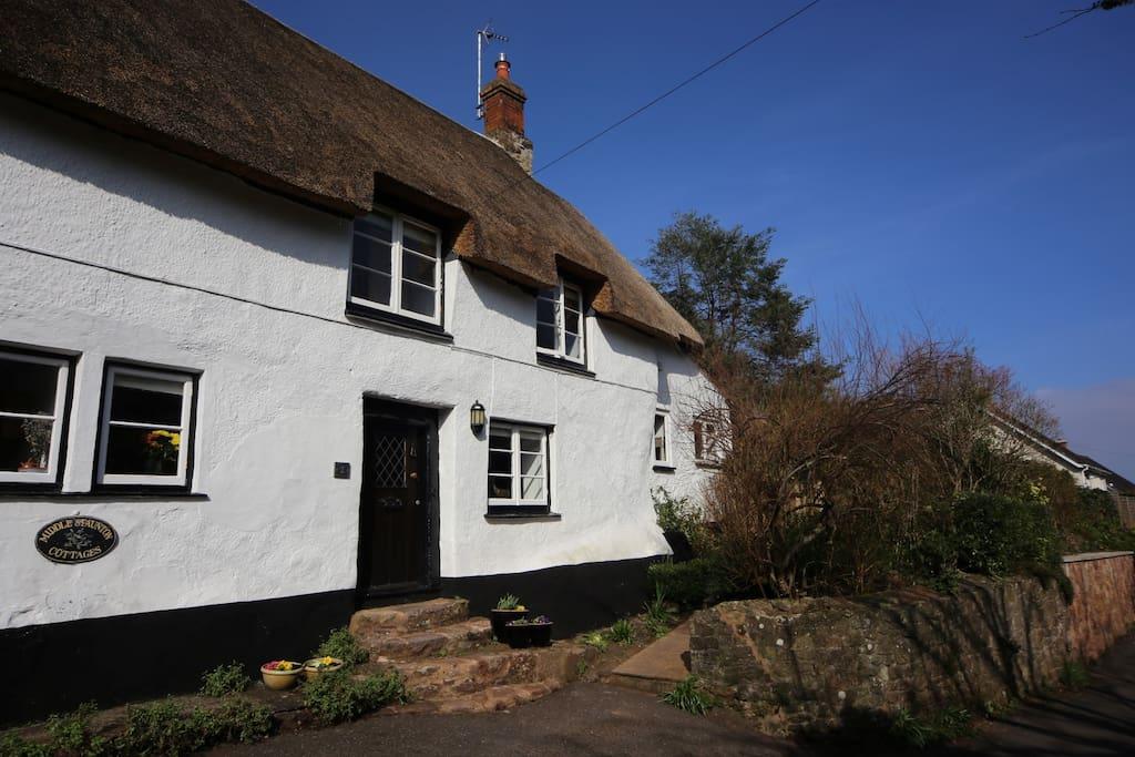 little haven thatched cottage h uschen zur miete in minehead vereinigtes k nigreich. Black Bedroom Furniture Sets. Home Design Ideas