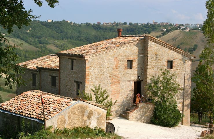 Quiet organic olive farmhouse in Central Italy - Tolentino - Huis