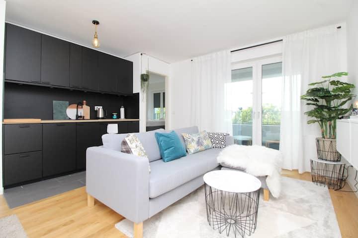 Gemütlich & modern - zentrales Apartment & Balkon