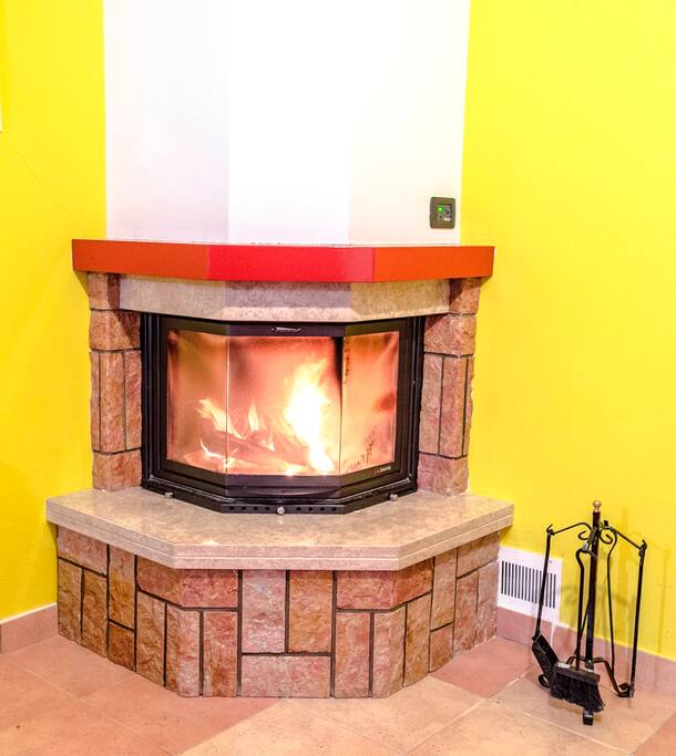 Wood Fireplace heater system