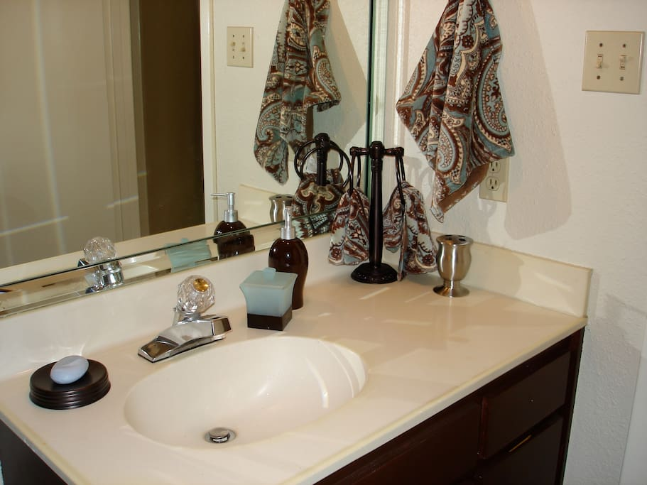 Your own private bathroom, equipped with everything you need!