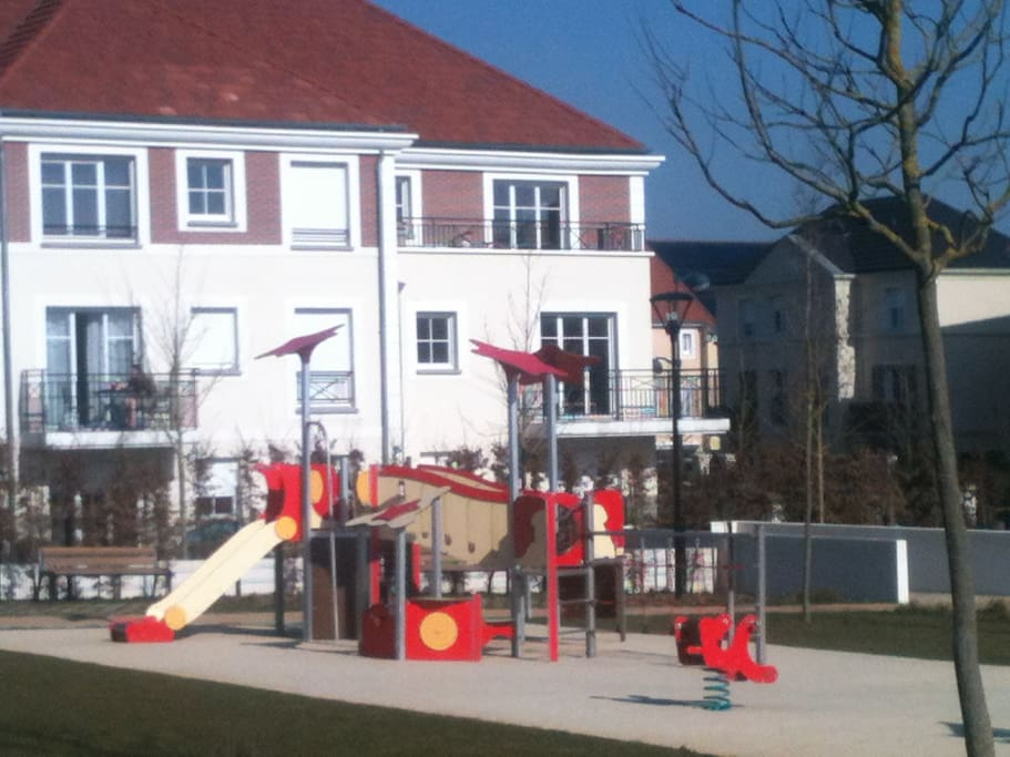 Adjacent playground/ building view