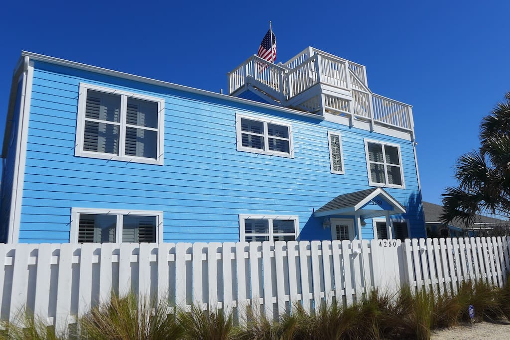 Summer Wind Oceanfront Beach home - front