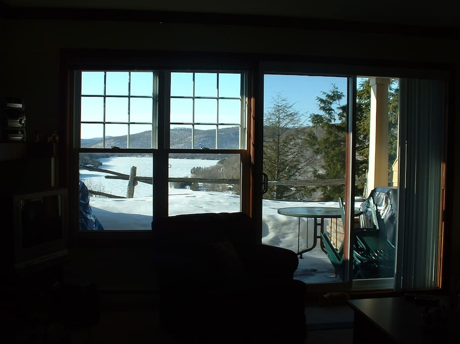 Winter view of our lake