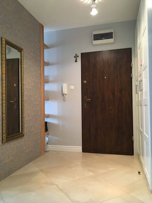 HALL with wardrobe and mirror