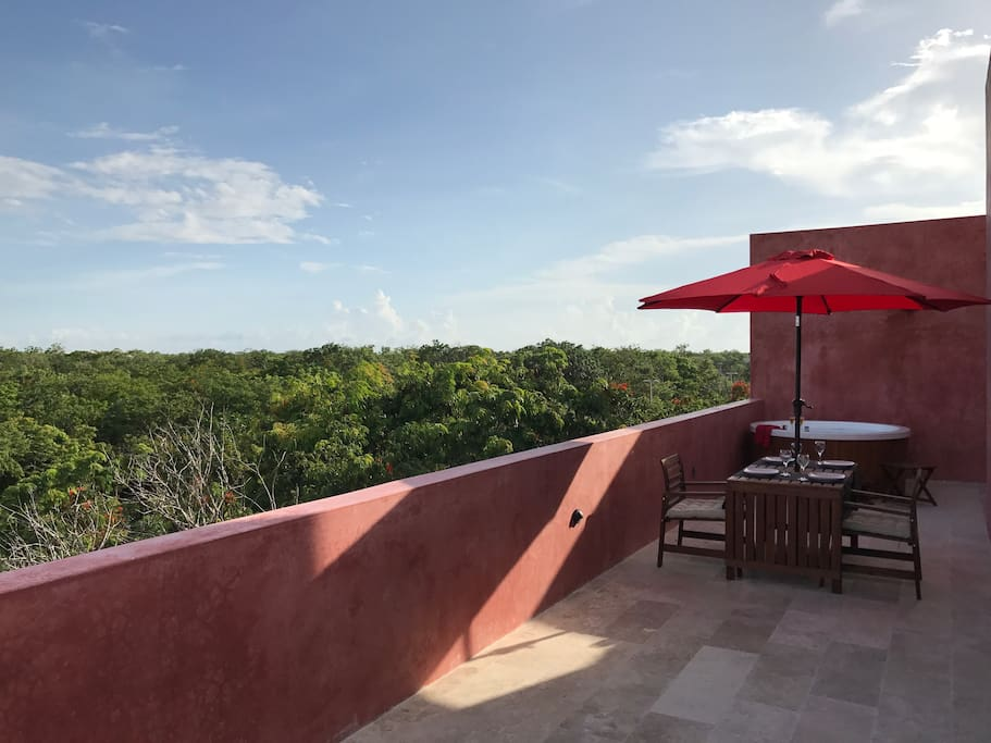 Surrounded by nature in your private terrace.