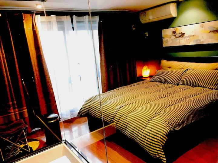 【本·宿】GREEN*自助入住玻璃LOFT公寓|地铁口3分钟|江南大学|进口乳胶床垫及洗护用品
