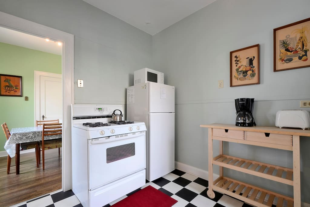 Our home has appliances like a coffee pot and toaster to add to your stay.