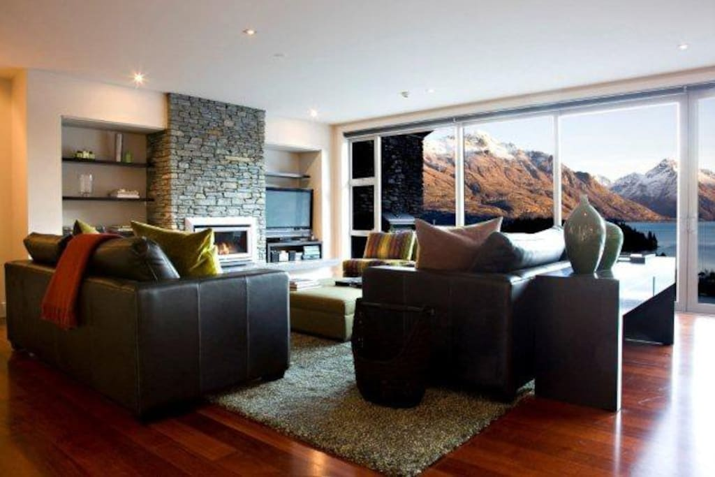 Living area with spectacular views and direct access to large deck