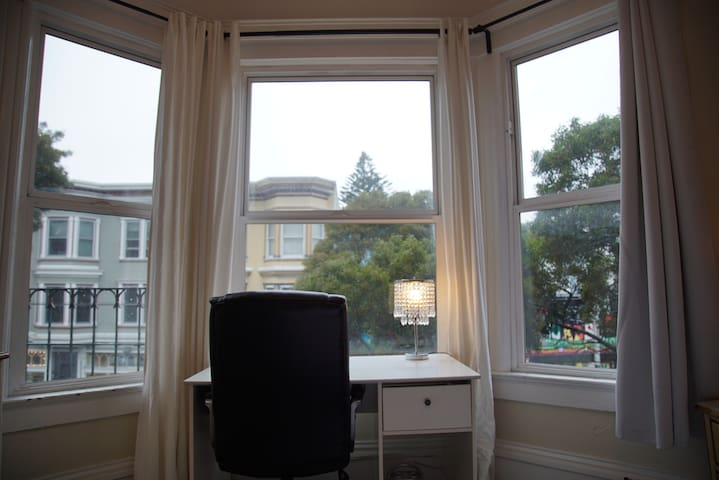 The Desk, and a View of Haight Street