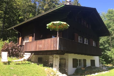 Traditional swiss wooden chalet, built in 1966. - Les Prés-d'Orvin