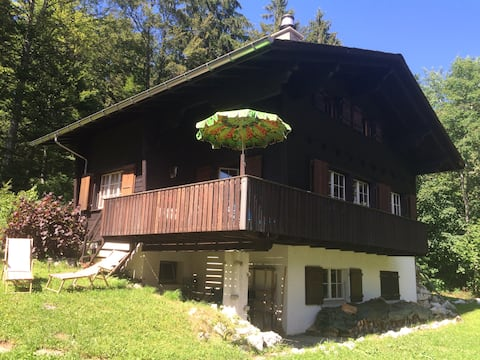 Traditional swiss wooden chalet,, built in 1966.