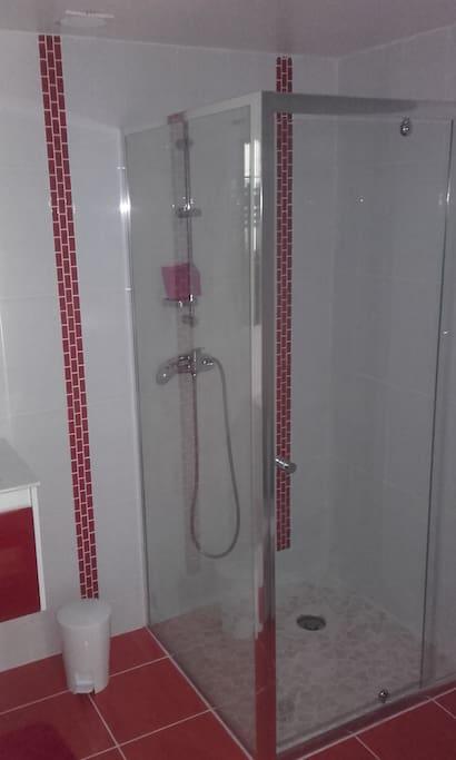 salle de bains de la chambre 1 (avec WC)