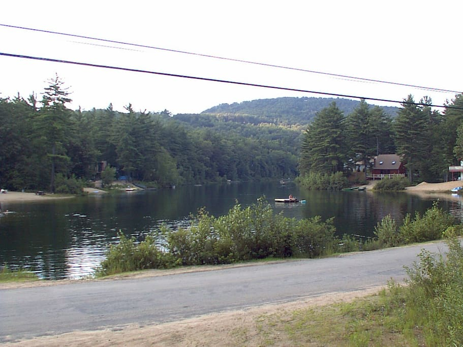View of the pond from the chalet.