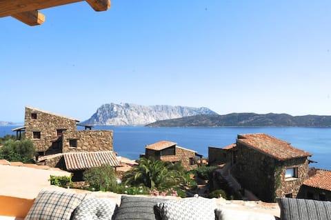 Prachtig uitzicht op zee in Punta Est - Capo Quea Cavallo