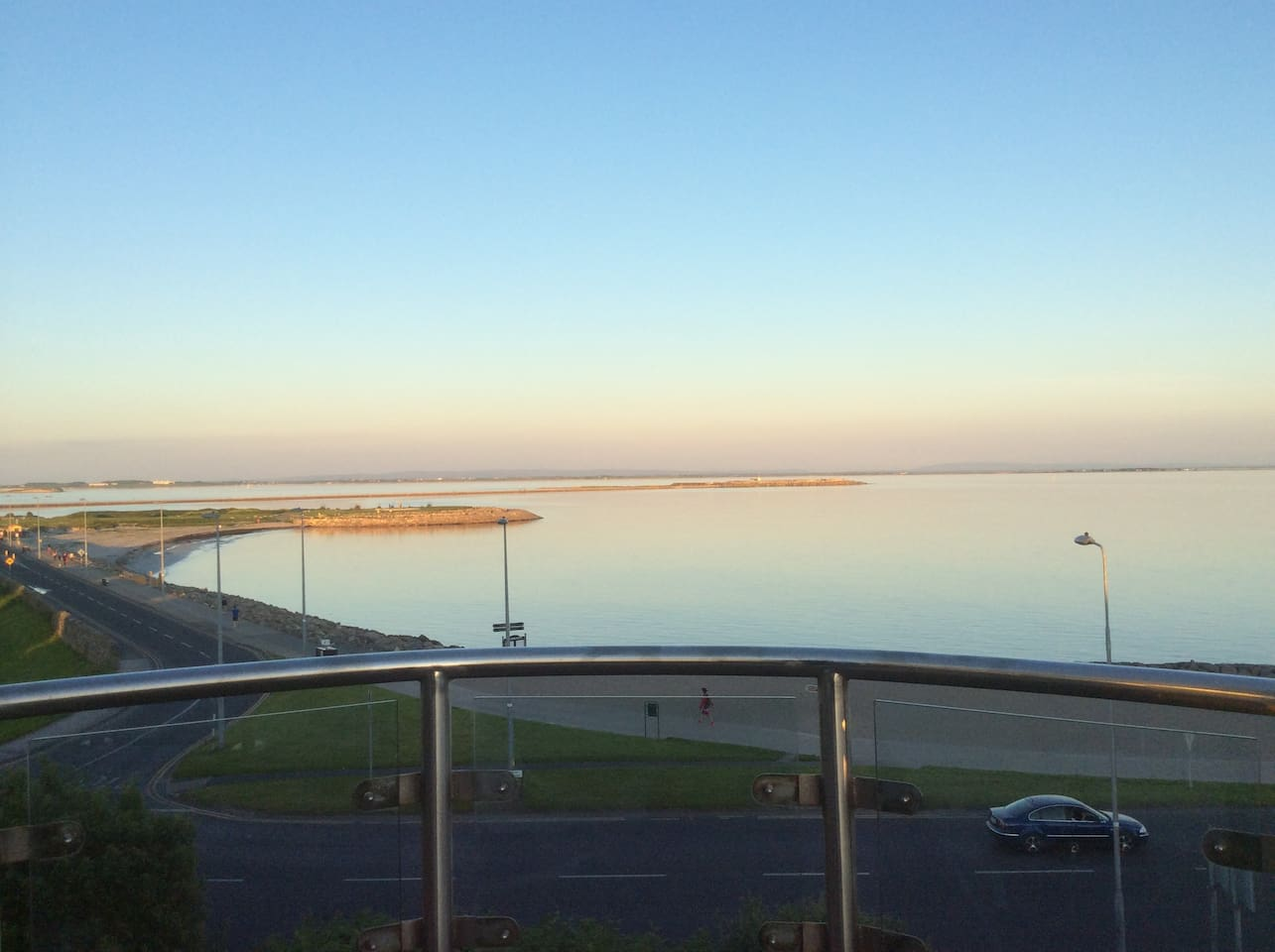 Galway Bay from Balcony view at sunset