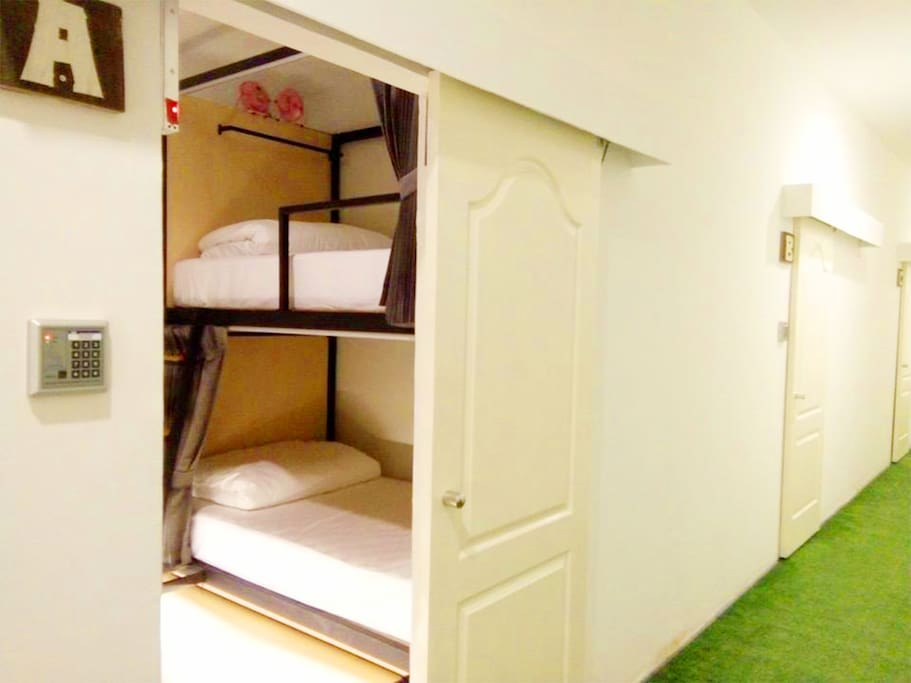 A , B , C , D  Private Bunkbeds