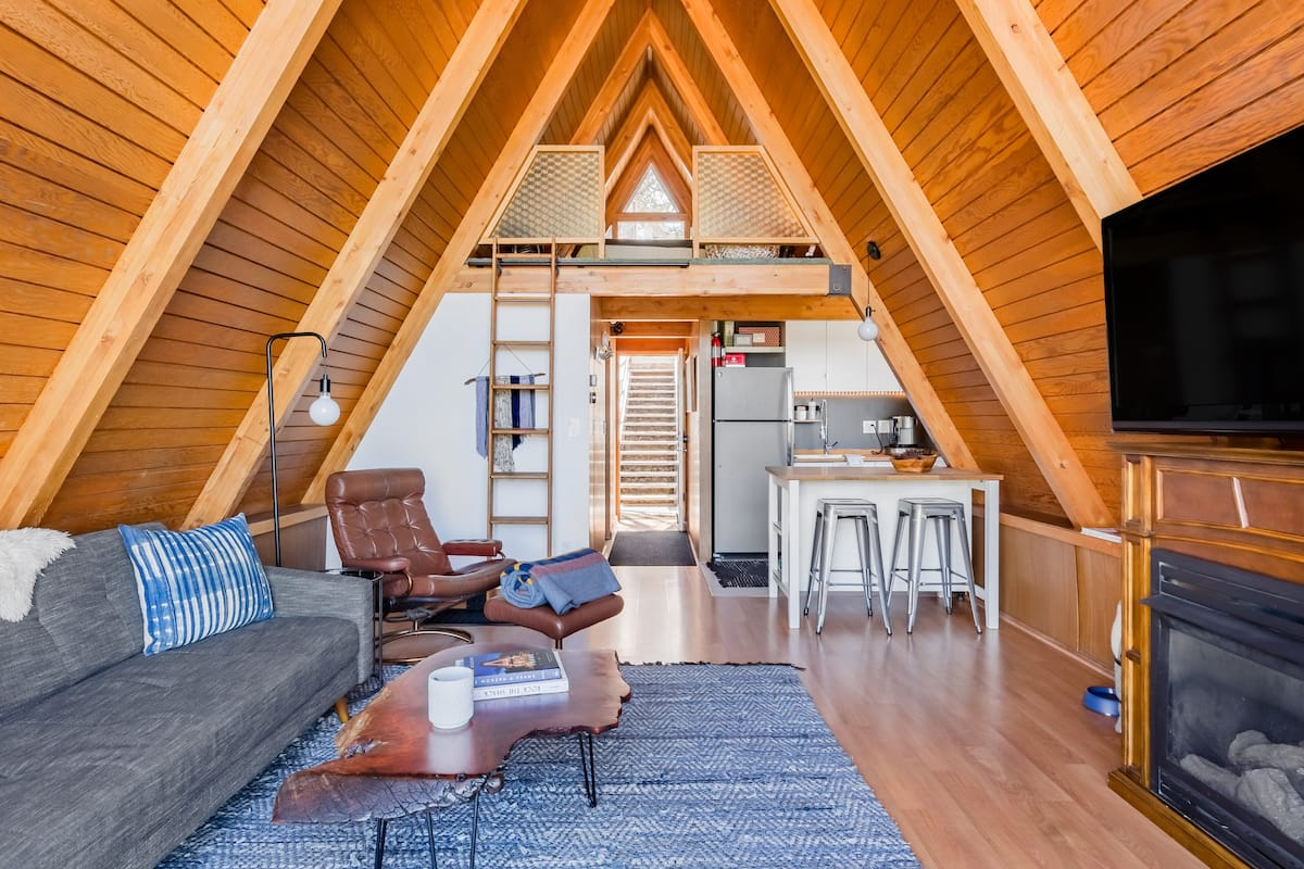 Striking Mid-Century A-Frame with Forest Views