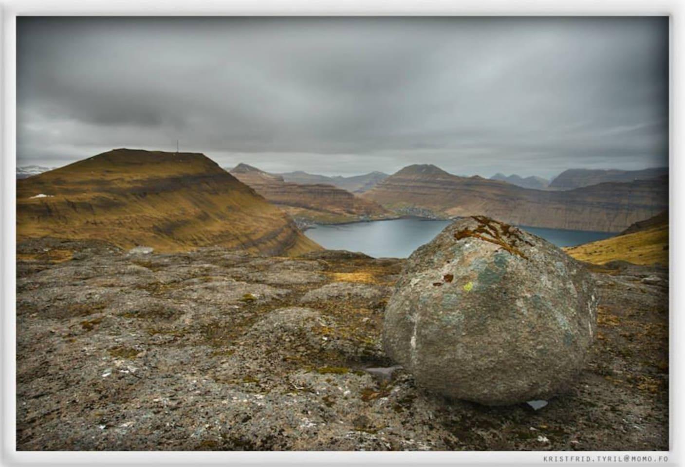 Syðrugøta and Norðragøta seen from Stórafjall