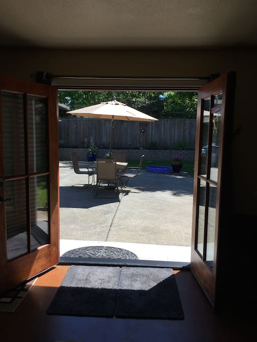 Room with a view and French double doors for that nice summer breeze!