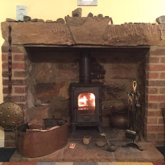 cosy up with the log burner
