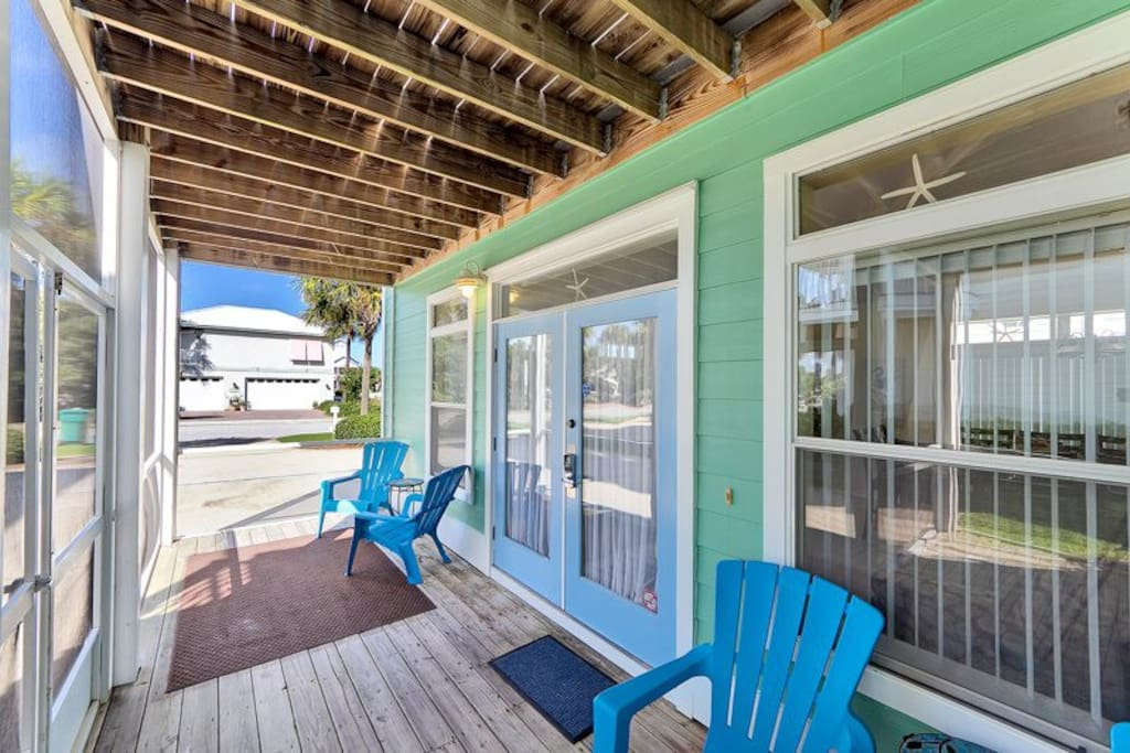 Enjoy a screened in porch for relaxing evenings and mornings.