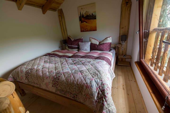 Schlafzimmer in sechs Meter Höhe