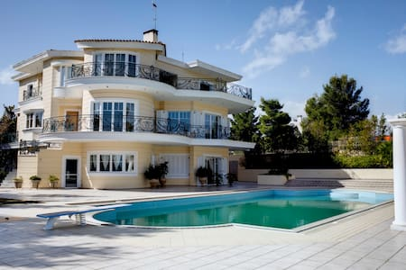 Incredible SEAVIEW VILLA with POOL - Oropos