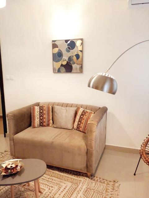 Appartement Cosy neuf en résidence sécurisée, haut standing, Les Résidences 2F,  Bonapriso.