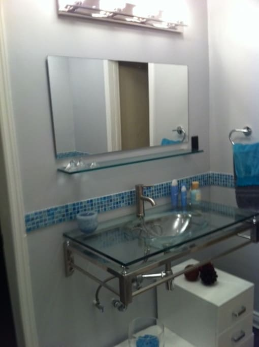 Guest bathroom newly remodeled