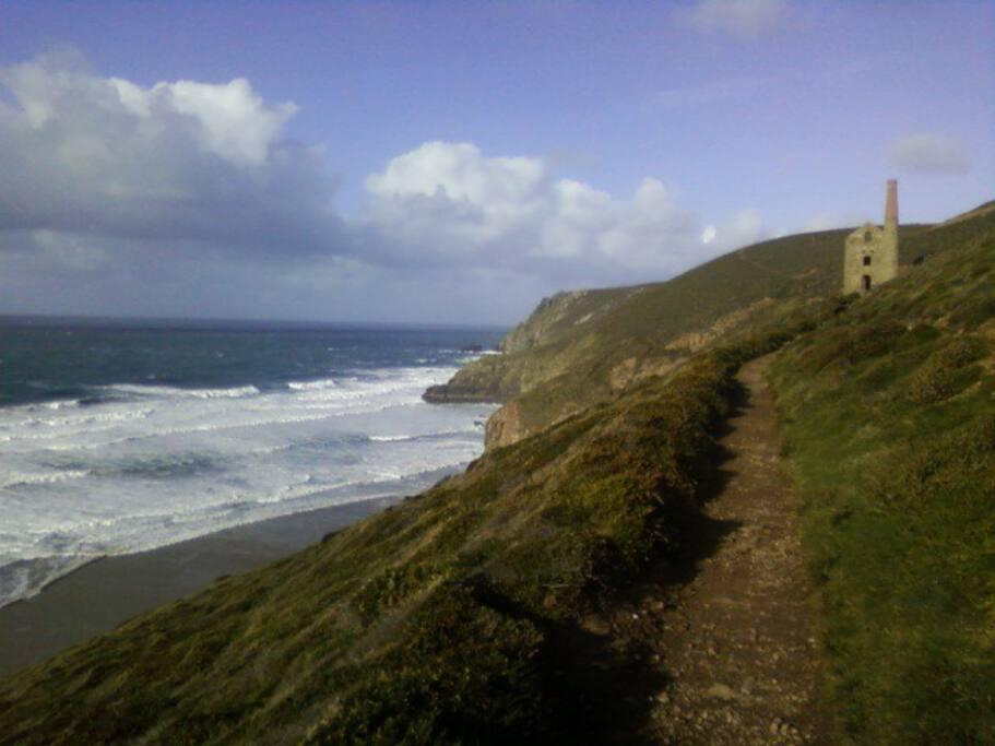 Old mine buildings litter the landscape...this a beautiful 30 min walk from Porthtowan via Chapel Porth.