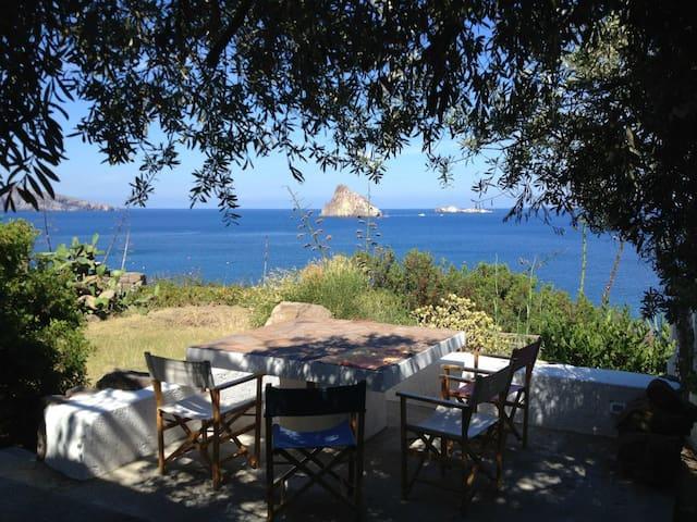 Villa and private beach in Panarea